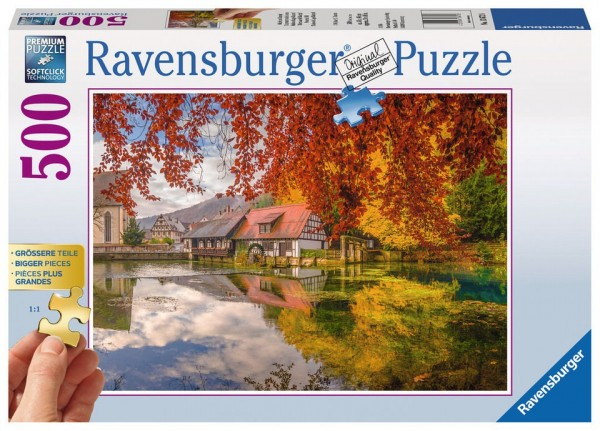 Ravensburger Puzzle 500 Teile Mühle am Blautopf Gold Edition Spielzeug