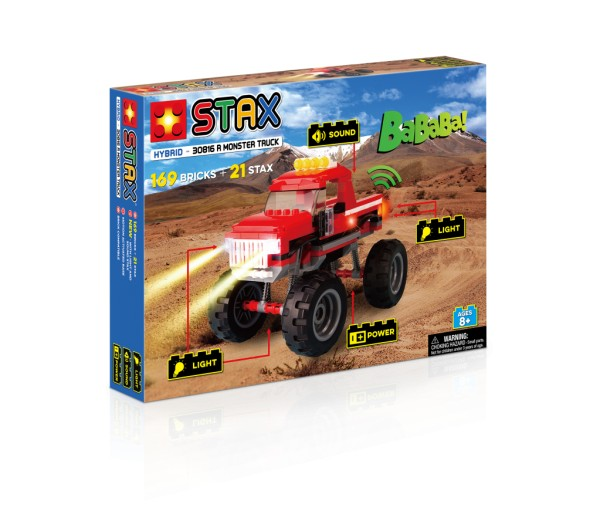 Light Stax Monster Truck Red Spielzeug