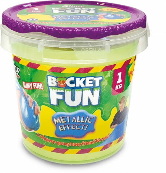 trendalliance Slimy Bucket Fun Metallic 1kg Spielzeug