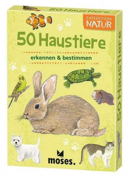 Moses Expedition Natur 50 Haustiere Spielzeug